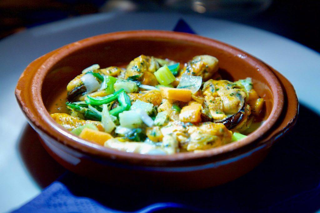 bakje mosselen met groenten